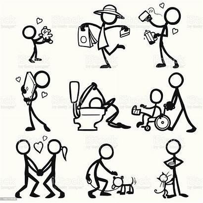Stick Figure Figures Vector Relationships Illustration Drawing