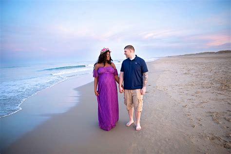 Virginia Beach Pregnancy Couple Sunset Maternity