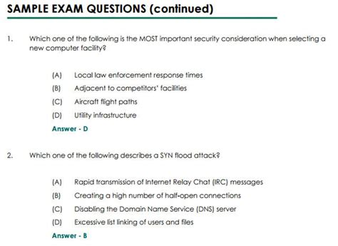 cissp certification are choice tests the best