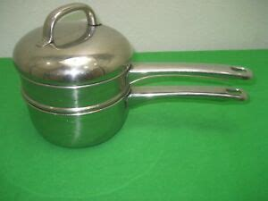 epicure essential copper   stainless cookware  ply base  sauce pan lid ebay