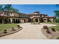 10,000 Square Foot Spanish Style Lakefront Mansion In