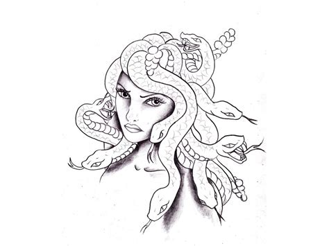 girls  tattoos drawing  designs medusa girl  snakes tattoo wallpaper coloring pages  adults pinterest snake tattoo