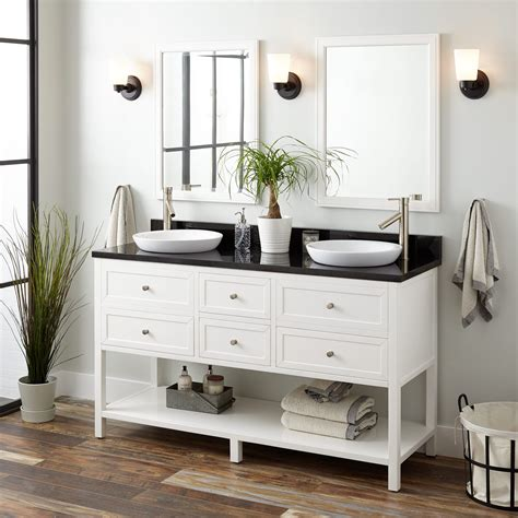 """.recessed base vanity mirror 7.75″ c , therefore rush as much as see far more mirror image you the reliable online store which often advertise mirror image recessed base vanity mirror 7.75″ c. 60"""" Robertson Double Vanity for Semi-Recessed Sinks ..."""