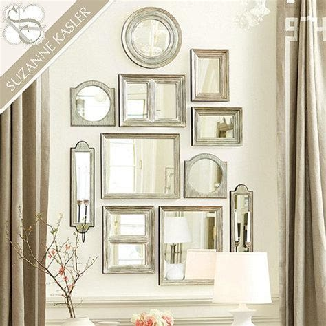 gallery wall with mirror suzanne kasler gallery wall mirrors in silver