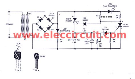 automatic battery charger circuit projects eleccircuit com wiring diagram for ac capacitor