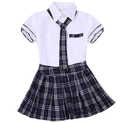 feeshow women school girls uniform cosplay costume tie top
