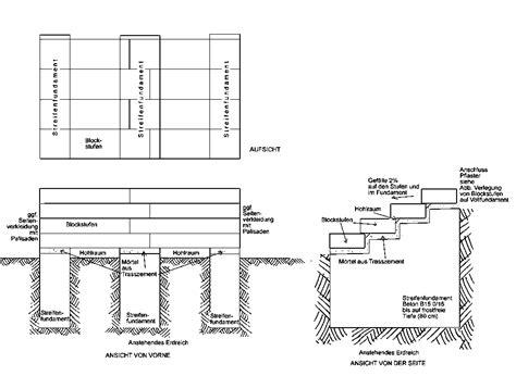 Blockstufen Beton Maße by Au 223 Entreppen
