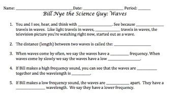 bill nye waves worksheet by mayberry in montana tpt