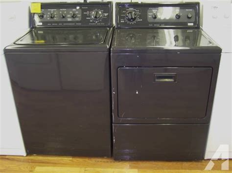 4 month warranty all black kenmore elite washer and dryer
