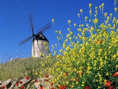 Spain Consuegra Windmills Wallpapers Espana 1600 1200