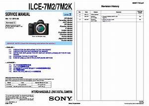 Sony Ilce-7m2  Ilce-7m2k Service Manual