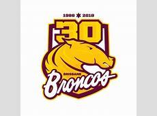 Brisbane Broncos 30 years logo — Third Sports Design by