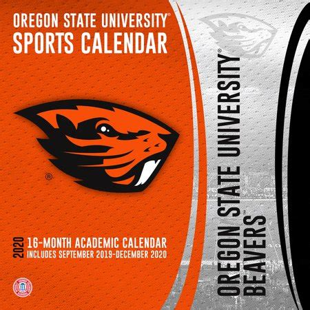 oregon state beavers team wall calendar walmartcom