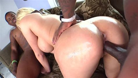 Two Hard Black Cocks Are Entering A Hot Blonde With A Big Ass