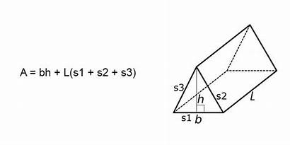 Prism Triangular Area Surface Formula Finding Formulas