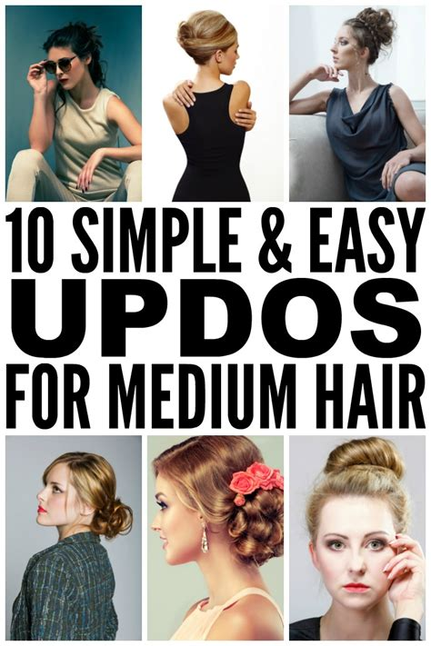 10 easy glamorous updos for medium length hair