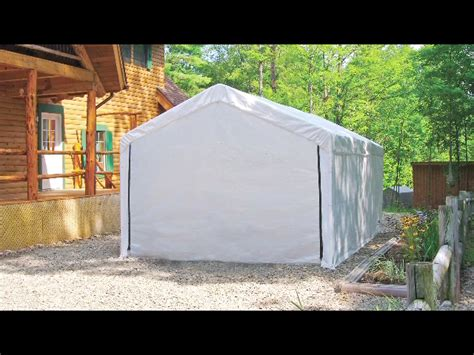 Canvas Storage Sheds Menards carports shelters at menards 174