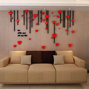3d heart curtain wall murals for living room bedroom sofa With kitchen cabinets lowes with snapchat 3d stickers