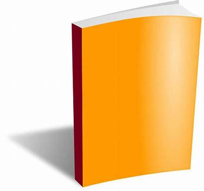 Clipart Notepad Paperback Blank Library Vector Orange