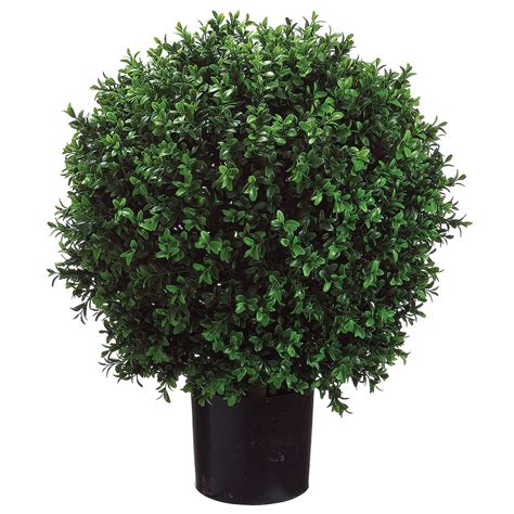 outdoor faux plants 24h x 18w inch artificial boxwood potted lpb446 gr