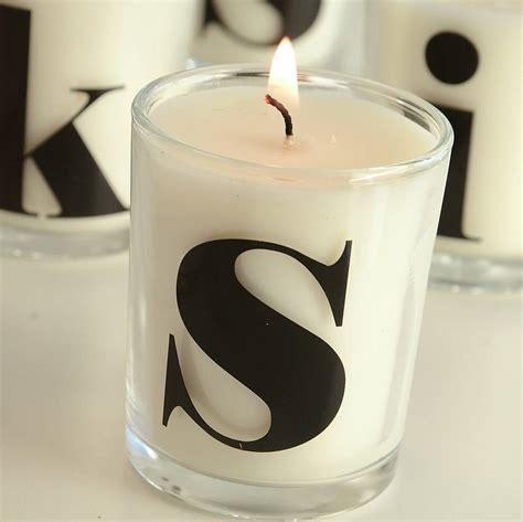 letter monogram candles   letteroom notonthehighstreetcom