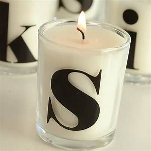 letter monogram candles by letteroom notonthehighstreetcom With letter candles