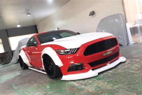 wide angle japanese tuner developing  mustang body kit