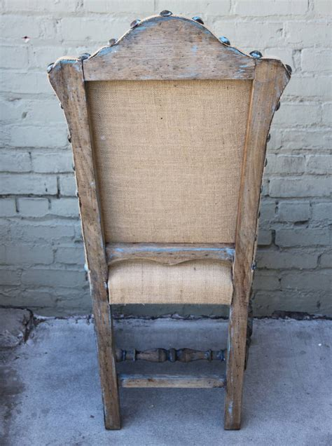 set of ten painted and burlap dining chairs at 1stdibs