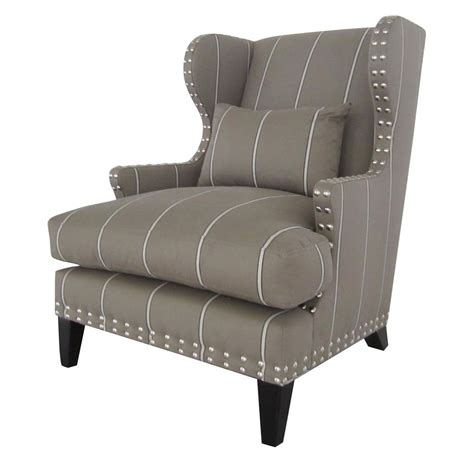 Amundsen British Industrial Studded Wing Back Accent Armchair