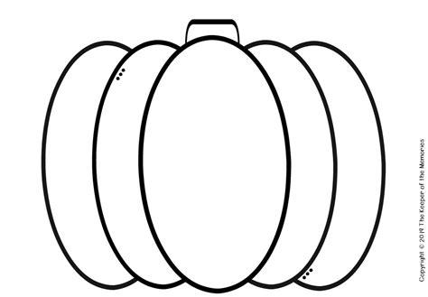 Free Printable Pumpkin Template - The Keeper of the Memories