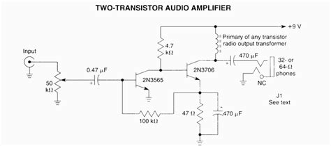 Two Transistors Audio Amplifier