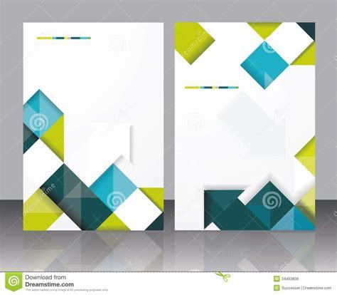 vector brochure template design  cubes  arrows
