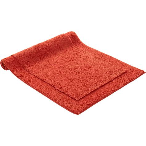 smith orange bath mat cb2