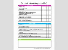 Annual Cleaning Checklist {free printable} Creative Home