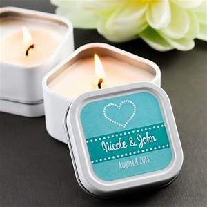 mini square personalized candle wedding favors With personalized candle wedding favors
