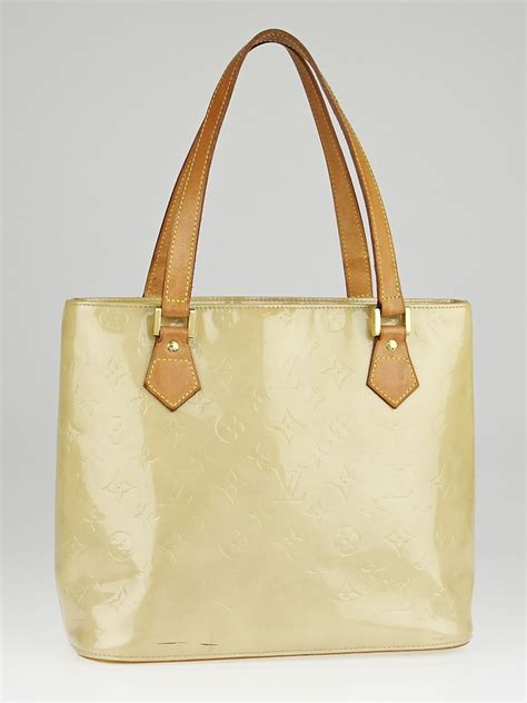 louis vuitton beige monogram vernis houston bag yoogis