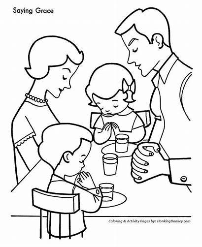 Coloring Pages Christmas Cookies Dinner Eating Printable