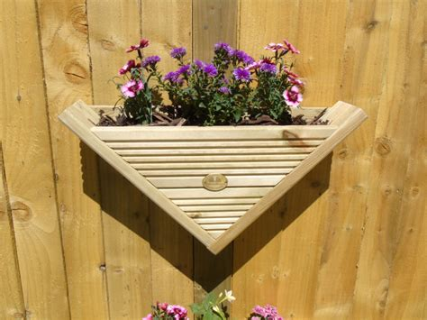 triangle wall hanging fence post mounted decking planter corner cover option
