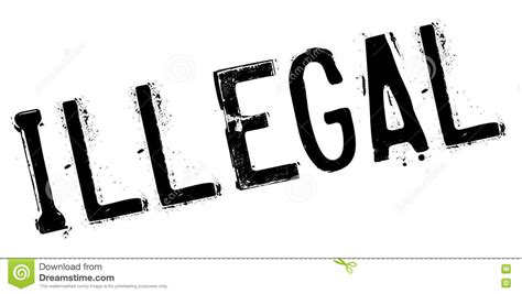 Illegal Rubber Stamp Stock Vector Illustration Of Racket