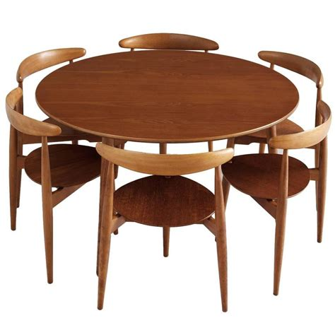 hans wegner set of table and six chairs for sale