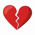 Premium Vector | Love broken heart symbol