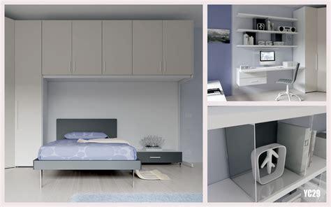 chambre ado avec un lit 1 personne compact