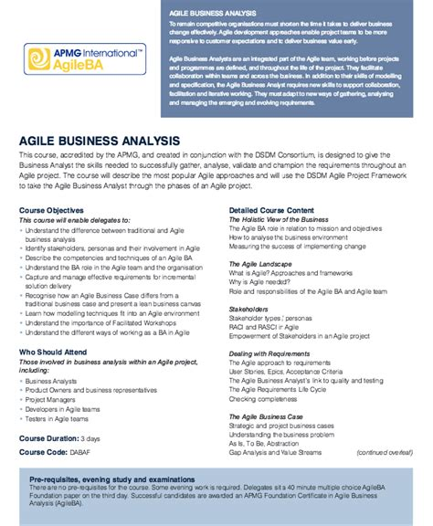 agile business analyst resume objectives resumes design
