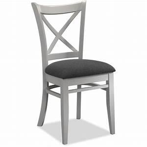 Chaise En Bois Blanc : lot de 4 chaises tissus gris et bois blanc achat vente chaise cdiscount ~ Teatrodelosmanantiales.com Idées de Décoration