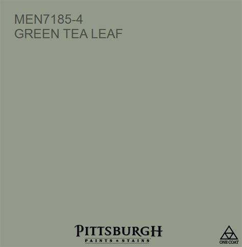 green tea leaf men7185 4 a green hue from the pittsburgh paints and stains 174 paint color palette