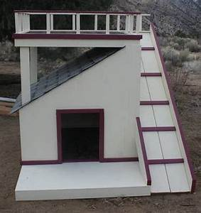 every dog deserves a viewing deck the owner builder network With dog house with deck