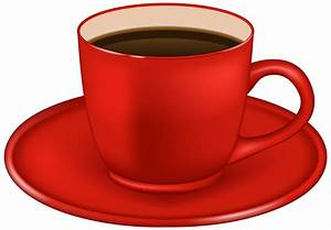 Edit and free download Red Coffee Cup PNG Clipart Image