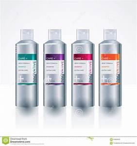 Packaging design template for body care bottle stock for Bottle packaging design templates