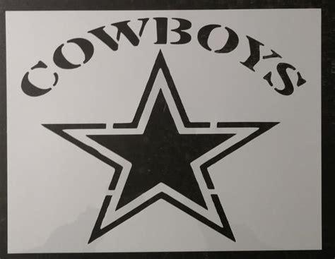 cowboys dallas star custom stencil  custom stencils