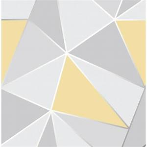 Apex Geo Wallpaper - Yellow Wallpaper - B&M